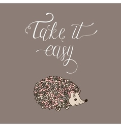 Take it easy vector image