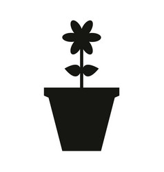 Vase icon with flower vector