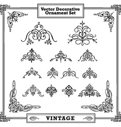 vector vintage decorative ornament set vector image vector image