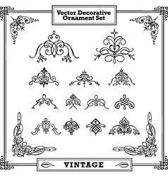 Vintage decorative ornament set vector