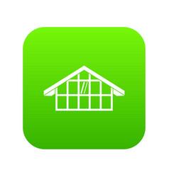 warehouse icon digital green vector image