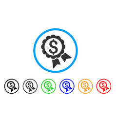 featured price label rounded icon vector image