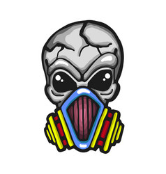 gas mask skull vector image