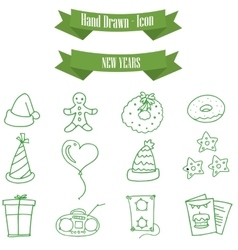 Icon of holiday new year element vector
