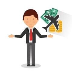 travel insurance concept icon vector image