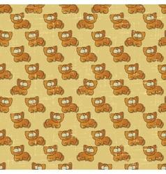 Vintage Cartoon Cats Pattern vector image vector image
