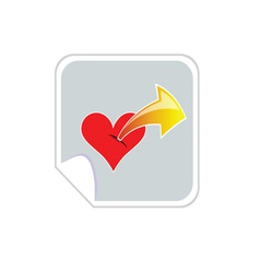 heartbeat with arrow vector image