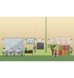 School office concept in flat vector image