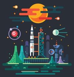 Space landscape vector image vector image