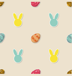 seamless pattern easter eggs vector image vector image