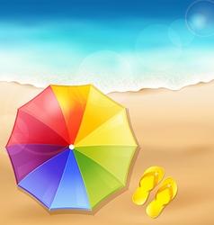 Beach umbrella on the sand vector image