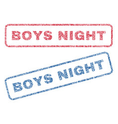 boys night textile stamps vector image