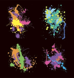 colored stains blots vector image