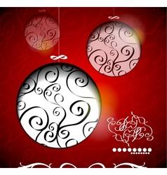 Creative Christmas balls with calligraphic vector image
