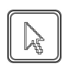 figure emblem mouse cursor icon vector image vector image