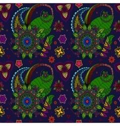 Hand drawn Mandala seamless pattern from floral vector image vector image