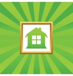 House picture icon vector image