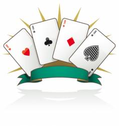 playing card Aces vector image