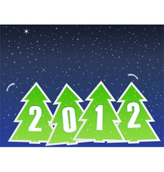 2012 christmas trees vector image