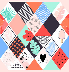 abstract summer seamless pattern vector image