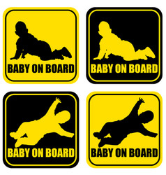 baby on board label sticker vector image