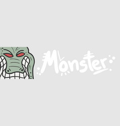 Banner monster vector