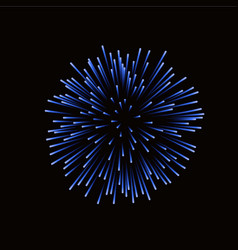 Beautiful blue firework bright firework isolated vector