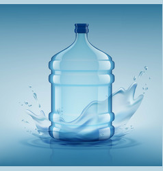 big bottle with clean water plastic container vector image