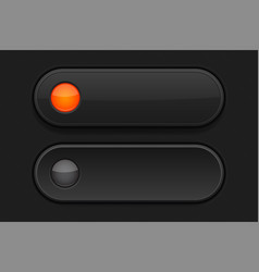 Black 3d buttons pushed and normal vector