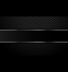 Black carbon fiber with metallic lines background vector