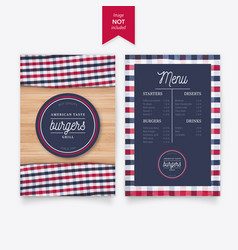 burger menu design vector image