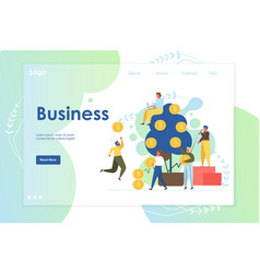 business website landing page design vector image