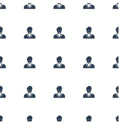 Businessman icon pattern seamless white background vector