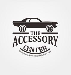 Car accessories center logo template vector