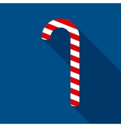 Christmas Candy Cane in Flat Style vector