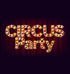 Circus party banner sign for traditional vector