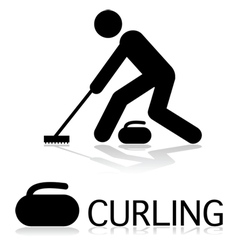 Curling icon vector
