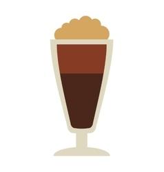 Delicious coffee silhouette icon vector