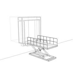 Dock leveler concept vector