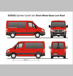 Dodge sprinter swb low roof combi van vector