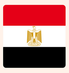 egypt square flag button social media vector image