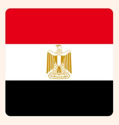 Egypt square flag button social media vector