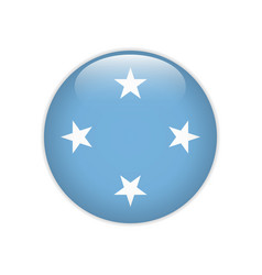 Federated states micronesia flag on button vector