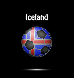 Flag of iceland in the form of a soccer ball vector
