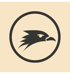 Flat in black and white mobile application eagle vector