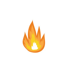 forest fire flames sign or burning blazes cartoon vector image
