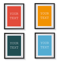 format paper design with text picture frame and vector image