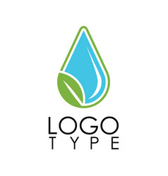 green drop water logo vector image