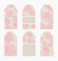 Hand drawn creative tags vector