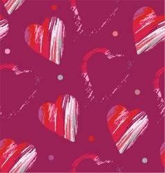 Heart formed strokes vector